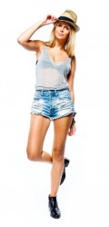 Heather Grey V neck Tank