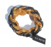 Laced Leather Mesh Bracelet