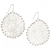 Hayden Mesh Earrings (Silver)