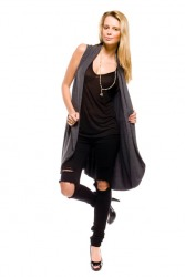 Sleeveless Wrap (Charcoal)