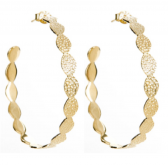Goddess Hoops (Gold Plated)