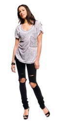 Burnout Pocket Tee (Rock)