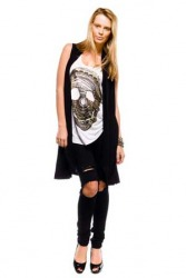 Fluxus Sleeveless Wrap (Black)