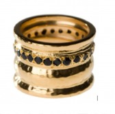 Cigar Ring Black Onyx