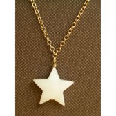 White Mother of Pearl Star Necklace
